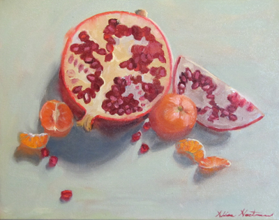 Pomegranate and mandarins